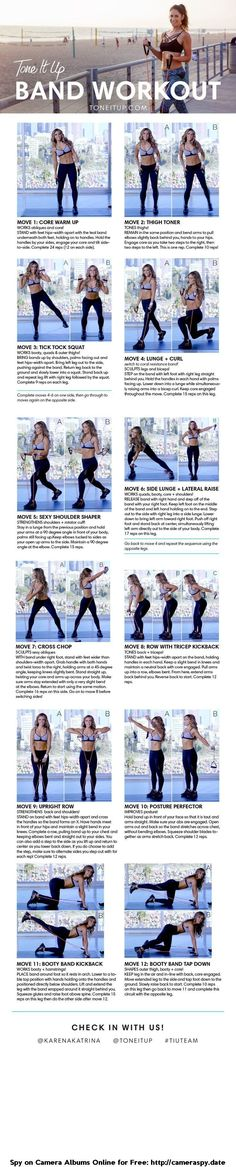 BEST resistance band workout to tone your entire body!! Tone It Up!!| Posted By: CustomWeightLossProgram.com