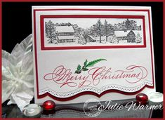 Christmas Window Scene IC414 by justwritedesigns - Cards and Paper Crafts at Splitcoaststampers