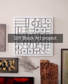 Simple textural DIY art project using foam building blocks