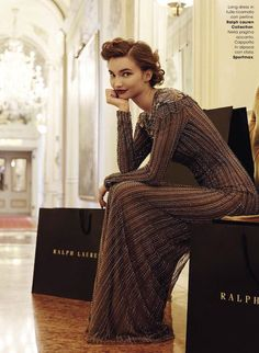 """""""It List!"""": Dalia Gunther and Shopping Bags by Andoni & Arantxa for Glamour Italia October 2015"""