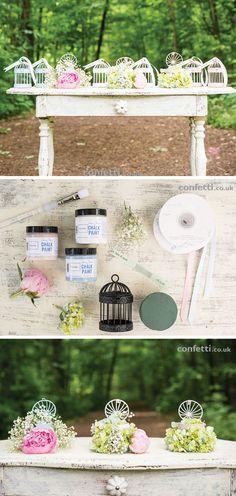 DIY Wedding Favours   Chalk Painted Birdcage Favours   Birdcage   Confetti.co.uk