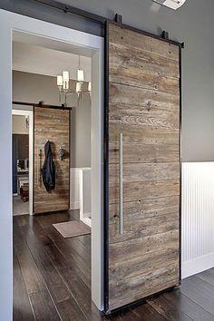 17 ideas para instalar una puerta corredera vista