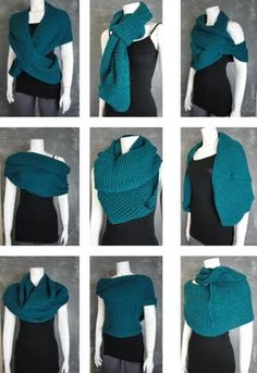 Zillion & one ways to wear an infinity scarf!