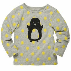 Carter's Girl Polka Dot Glitter Print Tee. Love penguins too!!!!:D