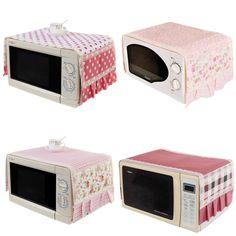 1 pc 35*100cm Microwave Oven Cover Dustproof Cotton Cloth Cover Romantic Pastoral Microwave Oven Set