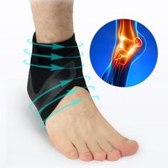 If you have ever experienced an ankle injury, you know how painful and physically restricting it can be. But now with the All Day Adjustable Ankle Support Strap, you can heal current ankle injuries and prevent future ankle injuries!The strap hel. Ankle Joint, Gel Cushion, Muscle Fatigue, Circulation Sanguine, Things To Buy, Stuff To Buy, Foot Pain, Heel Pain, Plantar Fasciitis