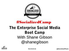 Enterprise Social Media Boot Camp Vancouver June 19 2013 presented by Shane Gibson social media speaker and author . Social Business, June 19, Boot Camp, Vancouver, Fails, Presentation, Author, Social Media, Camping