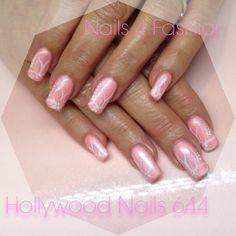 Pink romance nails