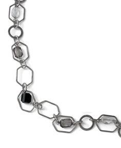 """Lia Sophia Vault Necklace, adjustable 18-21"""", item # 33N94. Reg $58"""
