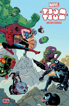 Marvel Tsum Tsum, a new four issue limited series, from writer Jacob Chabot and artist David Baldeon will hit comic book shelves in August. The series will be an in-continuity tale featuring the stackable sensations as they come face-to-face with their super hero counterparts, and the Marvel Universe at large. Don't know what a Tsum …
