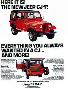 Jeep History in Ads Vintage Jeep, Vintage Trucks, Vintage Ads, Jeep Pickup, Jeep Truck, Jeep Jeep, Jeep Willys, Jeep Garage, Garage Art