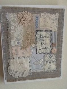 Using vintage lace with embroidery