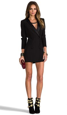Tuxedo dress..my next purchase for a cocktail event! Lovers + Friends Keaton Dress | REVOLVE