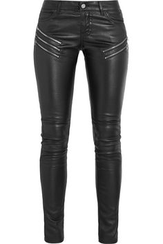 SAINT LAURENT Leather skinny pants. #saintlaurent #cloth #pants
