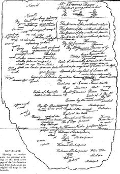 """Northumberland Manuscript: The only piece of paper in history that contains the names """"Sir Francis Bacon"""" and """"William Shakespeare"""" together Sir Francis, Francis Bacon, William Shakespeare, Poetry, Art Reference, Names, Magic, History, Historia"""