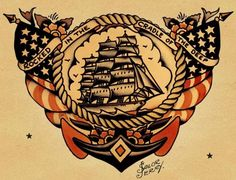 """If you don't know who Sailor Jerry is-- you don't know tattoos. Norman """"Sailor Jerry"""" Collins (1911-1973) is considered the foremost American tattoo artist of his time, and defined the craft in two eras-- BSJ and ASJ (before and after Sailor Jerry). Arguably, he did more for the ancient art of tattoo than most any other single person."""