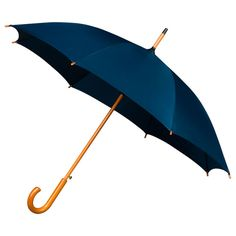 Ladies Woodstick Crook Handle Umbrella Navy Blue    £12.95