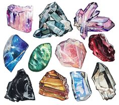 Crystal illustrations for a new book 'A Wilder Life'
