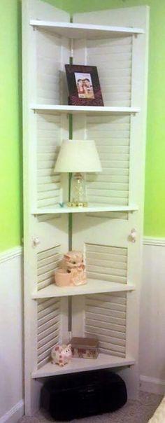 reused old doors shelves