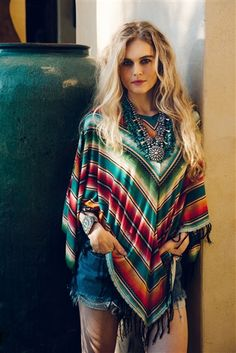 DOUBLE D RANCH.  Women's.  Pachamama Poncho. Available at Ranch At The Rim