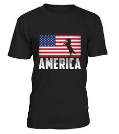 USA Flag America Unicorn Tri Blend Tshirt