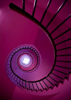 Black Staircase against a Purple Background      by:    Robin de Blanche