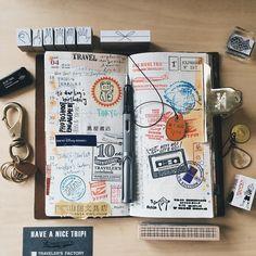 week 16 。pursue my dream。work and travel in Japan ✈️❤️ #TRAVELERSnotebook #travelersfactory #midoritravelersnotebook