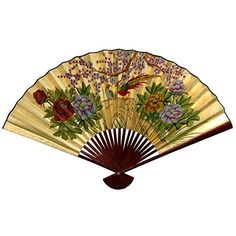 Oriental Furniture Good Graduation Gift Idea, 20-Inch Chinese Decorative Wall Fan, Gold Leaf with Cherry Blossoms, Small ORIENTAL FURNITURE http://smile.amazon.com/dp/B004FPCZM2/ref=cm_sw_r_pi_dp_znryub0XCMQF4