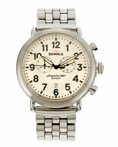 65be2ae9f898b Shinola - Brown The Runwell Chronograph Watch for Men - Lyst