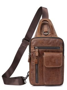 MVA Men Shoulder Bag Small Cell Phone Flap Genuine Leather Bag Strap Sling Leather Chest Pack Mens Chest Bags Men Messenger Bags #fashion #style #gifts #shopping #leathercraft #leather women #bag #MessengerBag