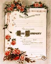 PRINTABLES - SIMPLY SILK Marriage certificates and more!