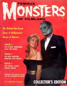 Famous Monsters of Filmland 1. Recent photo of Hugh Hefner with latest girlfriend....Thank God for the latest in anti-aging technology....