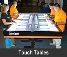 CyberTouch MultiTouch Tables http://cybertouch.com/touchTables.html