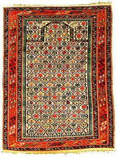 ♔ Carpets-Rugs : Azeri shirvan rug 1875