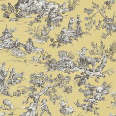 "Brewster Home Fashions Sage Hill Whitney Toile 33' x 20.5"" Wallpaper Roll Color:"