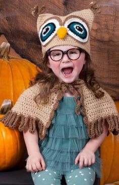 Owl hat and cape pattern