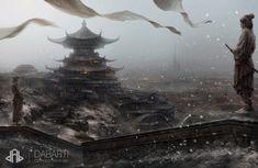 Asian fantasy art  Oriental Matte by  Piotr Jabłoński fantescape tumblr