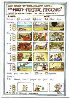 E ration: How to write a postcard/comment écrire une carte p...