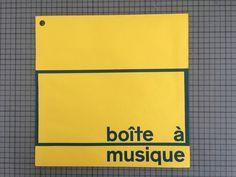 Boite a Musique album cover - Karl Gerstner