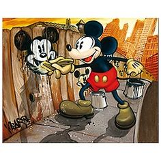 BLOC28 ''Mickey da Vinci'' -- I'd love to have this in my Disney room :)