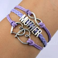 infinity bracelets Mother braceletDouble heart by littlecuteowl, $4.99