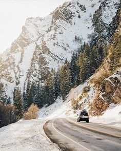 Would always rather be mountain bound than city bound. Driving among snow capped giants. Epic shot by Get Outdoors, The Great Outdoors, Adventure Awaits, Adventure Travel, Beautiful World, Beautiful Places, Ecuador, Wanderlust, Winter Scenes
