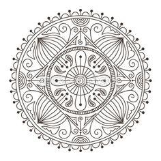 Doodle mandala — Ilustração de Stock #18160979