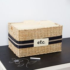 Organize your documents with this handy file basket.