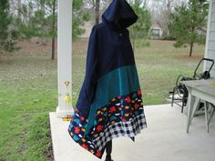 Boho clothingboho hoodiefleece maxi by NanasLittleCuties on Etsy