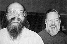 Ken Thompson (left) and Dennis Ritchie (right)