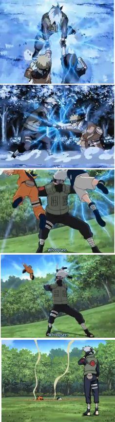 "<3 Naruto, Sasuke & Kakashi - from OVA 4: ""Finally a clash! Jonin vs. Genin!! Indiscriminate Grand Melee Tournament Meeting!!"""
