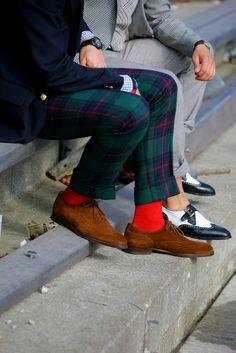 De belles chaussettes rouges !