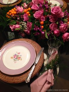 Mother`s day table setting