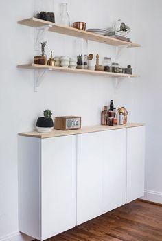 IVAR cabinet white (painted white) - 5 different IVAR IKEA hacks!